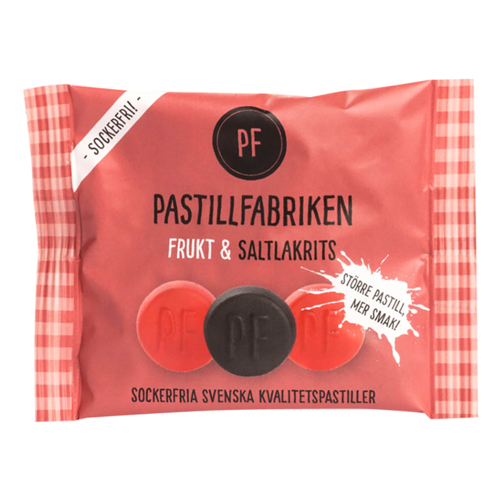 Pastillfabriken Frukt & Saltlakrits Påse - 25 gram