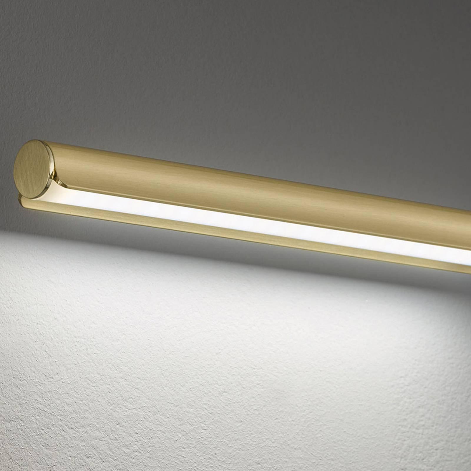 LED-vegglampe Nami med bryter, messingfarget