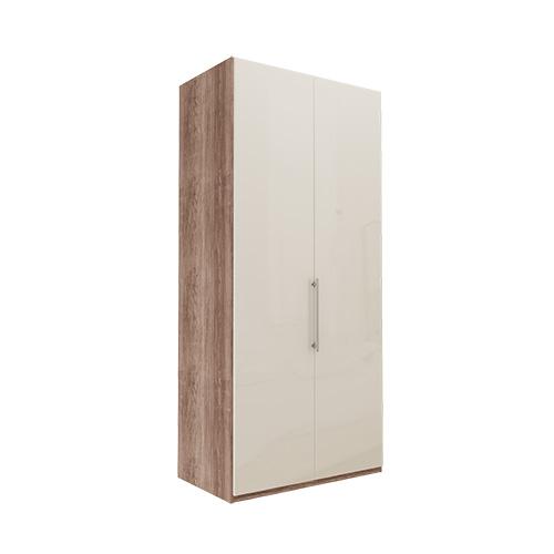 Garderobe Atlanta - Mørk rustikk eik 216 cm, Venstre, Uten gesims