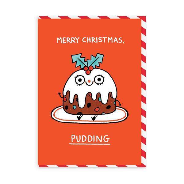 Merry Christmas Pudding Christmas Card