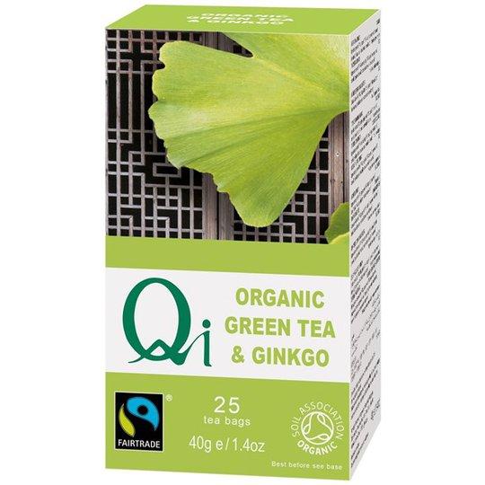 Qi Teas Grönt Te Ginkgo, 25 påsar