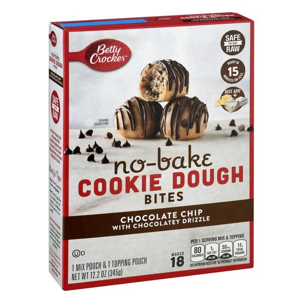 Betty Crocker No-Bake Cookie Dough Bites Chocolate Chip 345g