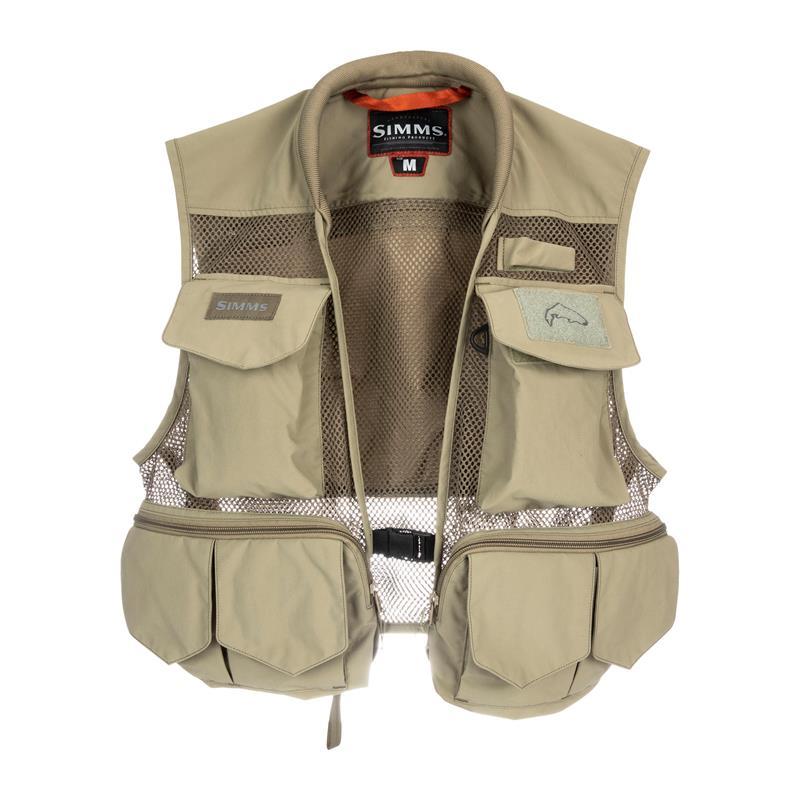 Simms Tributary Vest S Fluevest, Tan