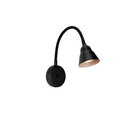 Relief Vegglampe Matt svart/Gråbeige GU10
