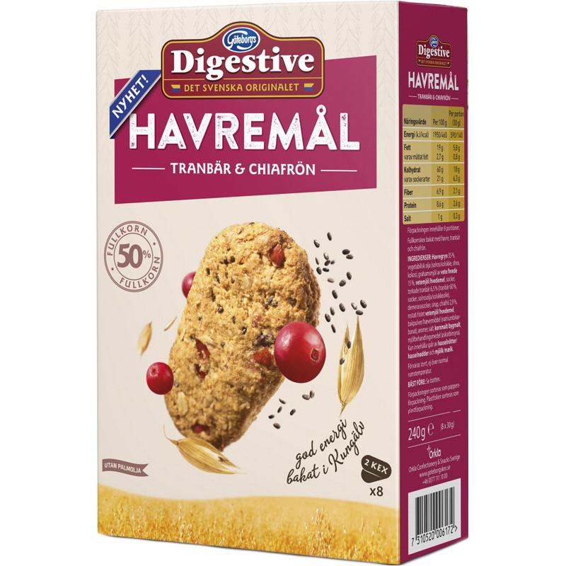 Havremål Tranbär & Chiafrön 8 x 30g - 35% rabatt