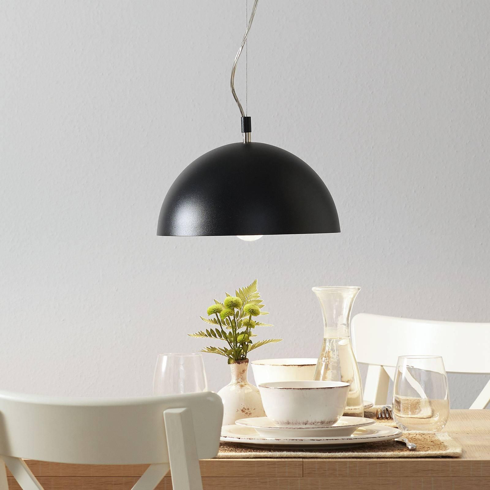 Lucande Maleo -riippuvalaisin 30 cm musta