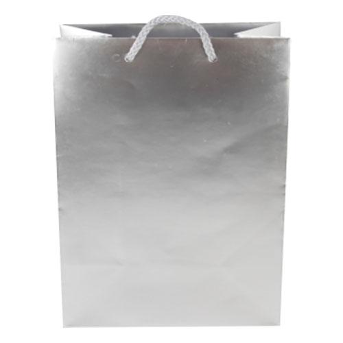 Presentpåse Silver med Handtag - 1-pack