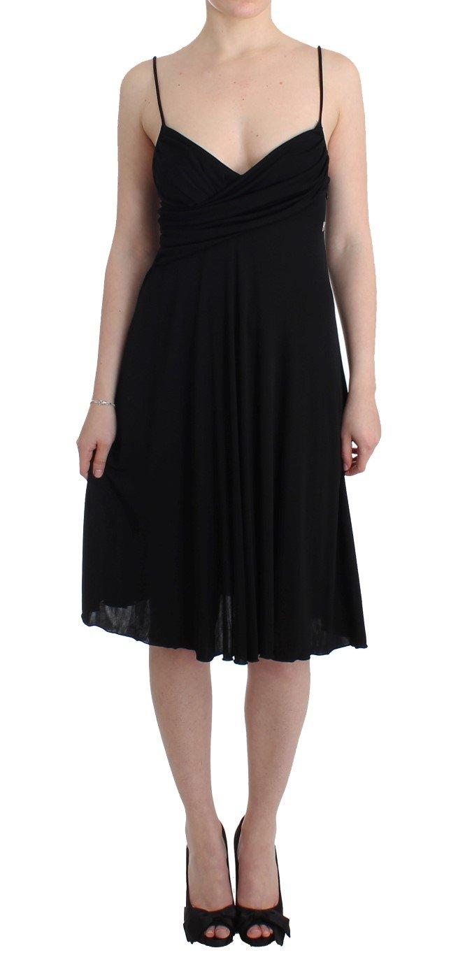 John Galliano Women's Jersey A-Line Dress Black SIG11575 - IT46|XL