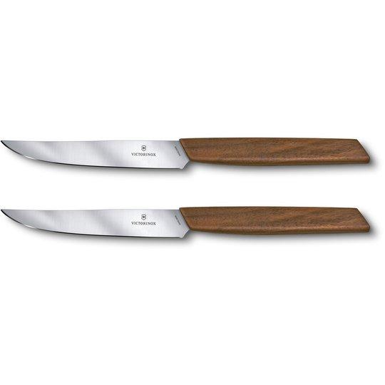 Victorinox Swiss Modern Köttknivar 12 cm 2 st Walnut Wood