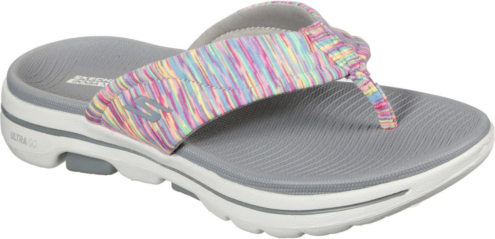 Skechers Women's Go Walk 5 Destined Sandal Various Colours 32154 - Grey/Multi 3