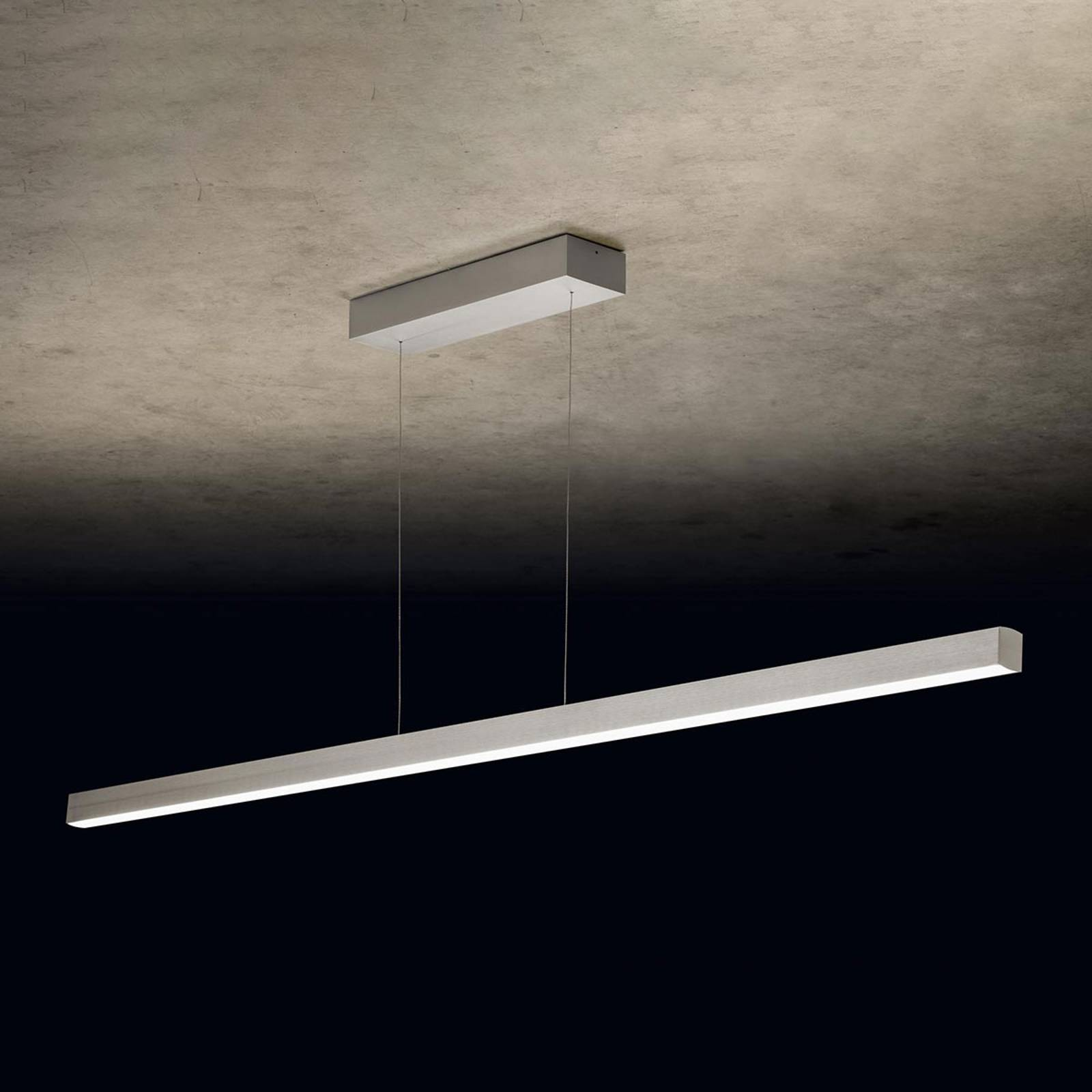 Holtkötter Xena L -LED-riippuvalaisin 160 cm hopea