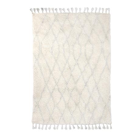 Woolen berber Matta zigzag Light Blue 180x280 cm