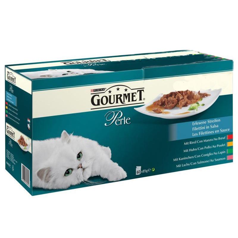 """Laatikollinen kissanruokaa """"Gourmet"""" 60 x 85 g - 26% alennus"""