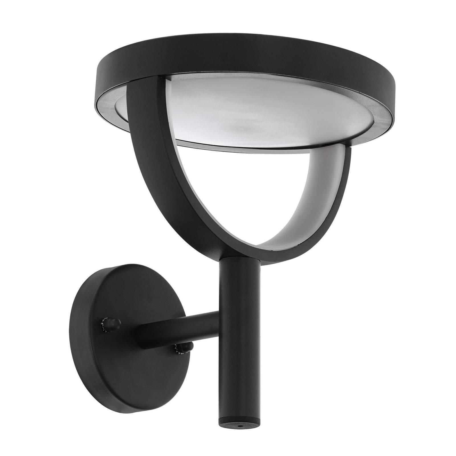 Utendørs LED-vegglampe Francari i antrasitt