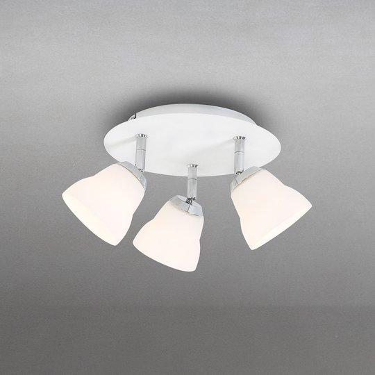 Fico Rondell -kattovalaisin, 3-lamppuinen