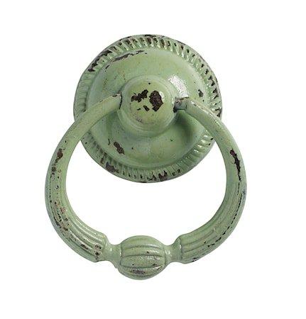 håndtak med ring Ø 5 cm - Lysegrønn