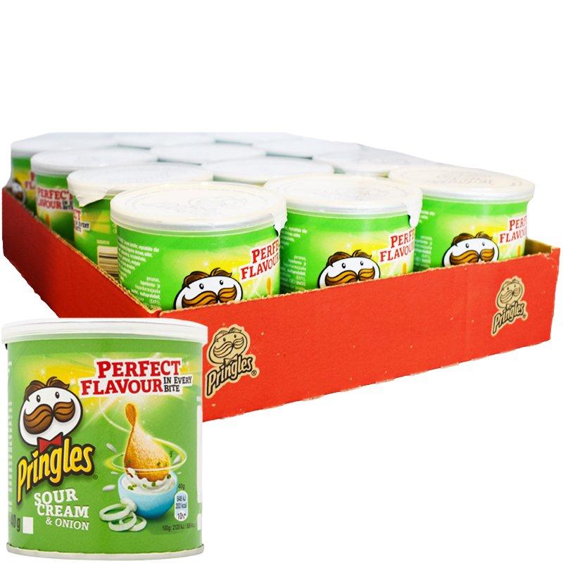"Laatikollinen Perunalastuja ""Sour Cream & Onion"" 12 x 40g - 33% alennus"