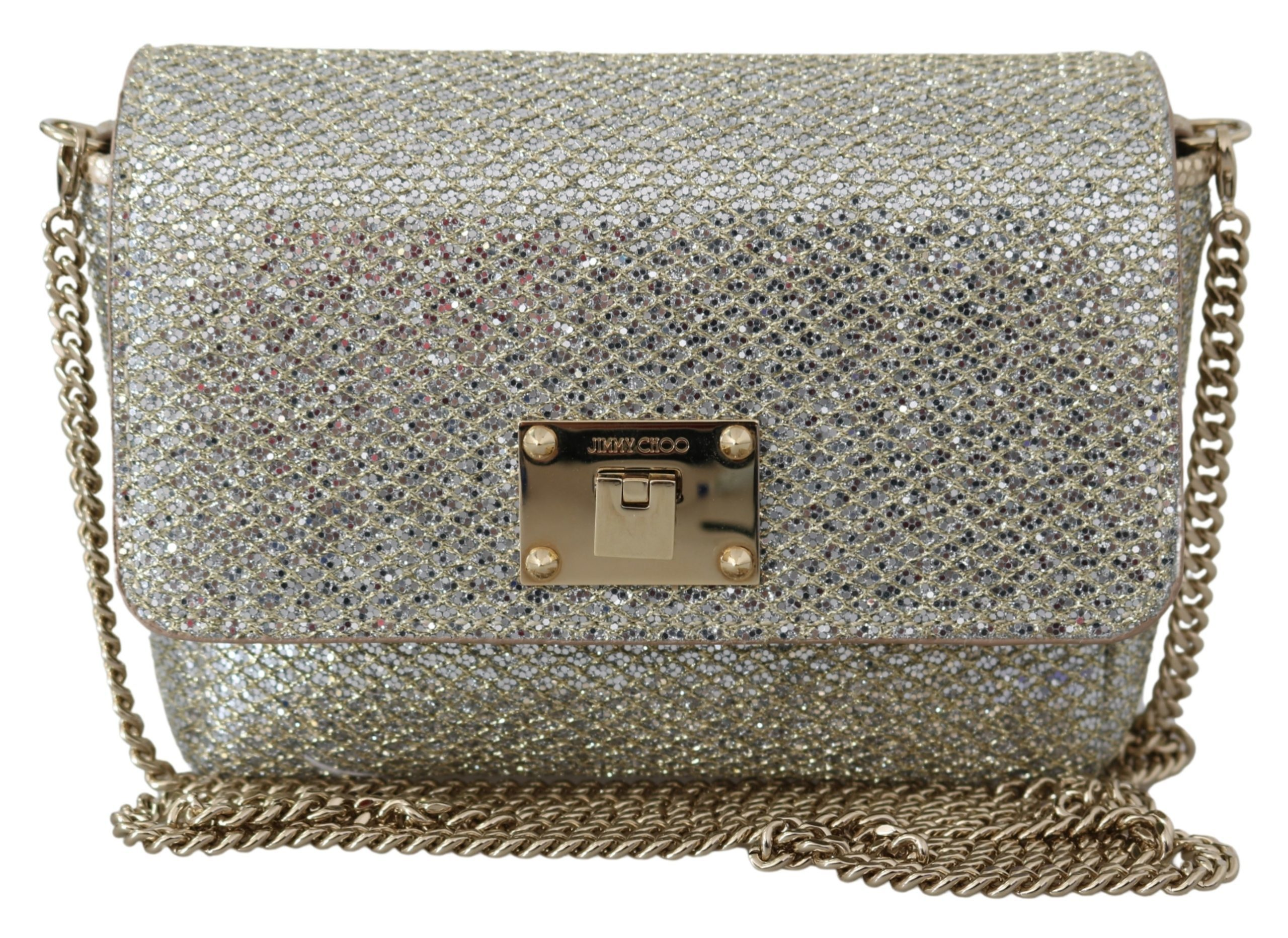Jimmy Choo Women's Ruby Champagne Bag Silver 1436083