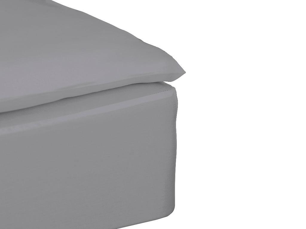Södahl - Comfort Box Sheet 90 x 200 x 30 cm - Grey (724051)