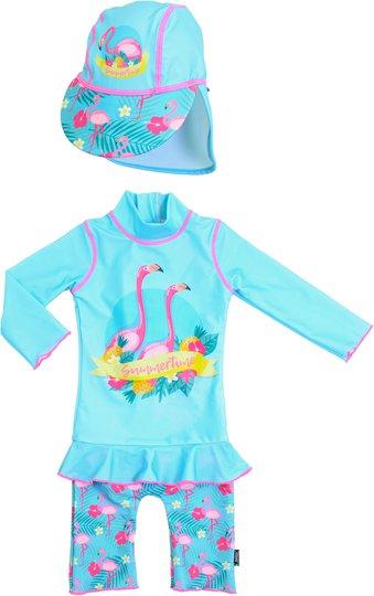 Swimpy UV-Dräkt & Hatt, Flamingo 86-92