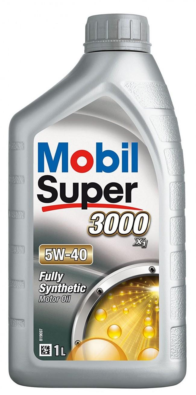 Moottoriöljy MOBIL 5W40 SUPER 3000 X1 1L