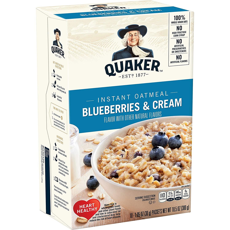 Quaker Instant Oatmeal Blueberries & Cream 300g