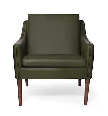 Mr. Olsen Lounge Chair Pickle Green Läder Smoked Ek