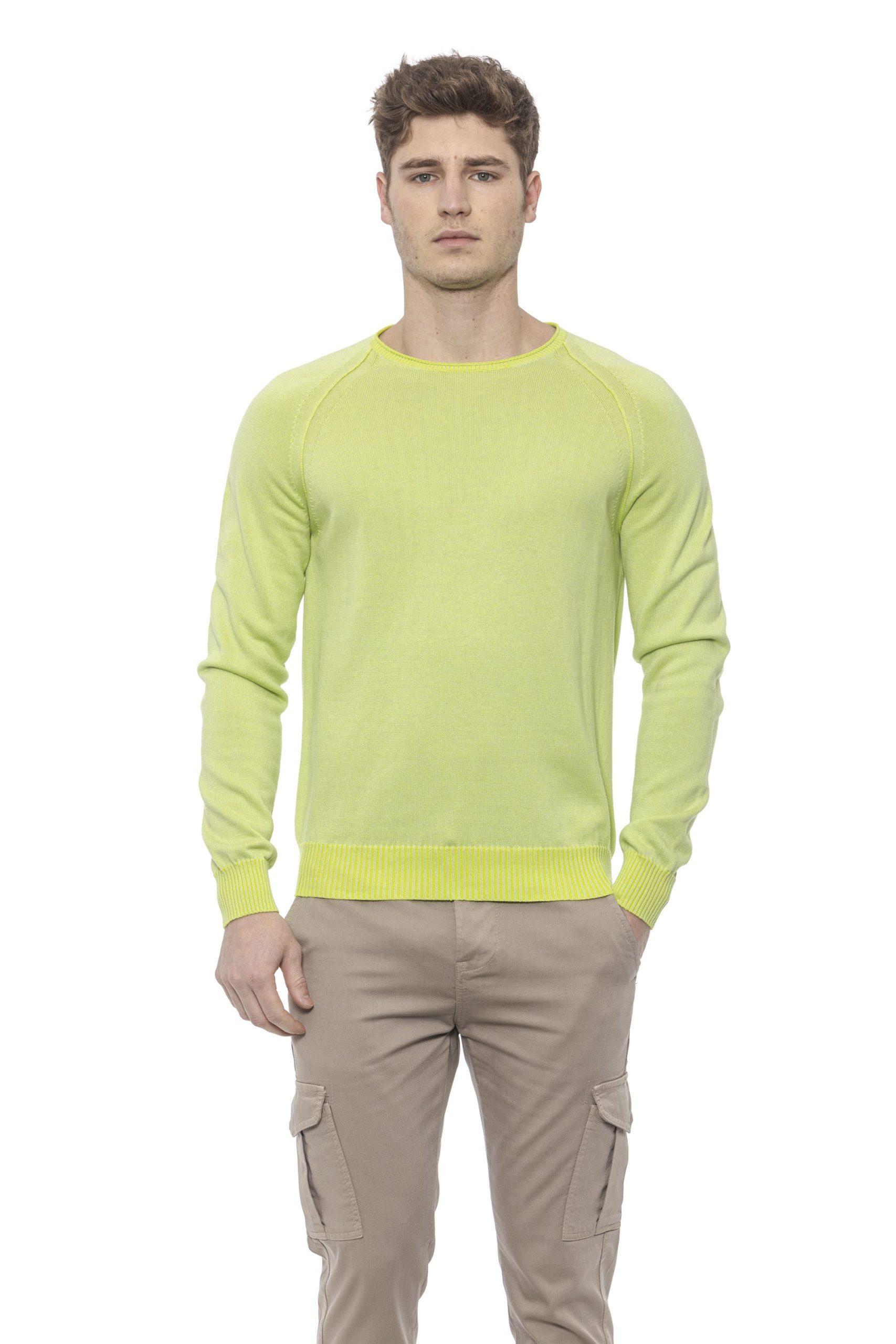 Alpha Studio Men's Acido Sweater Green AL1374455 - IT50 | L