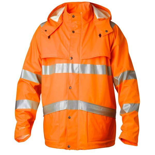 Top Swede 9394 Regnrock 80 cm, varsel, orange Strl XS