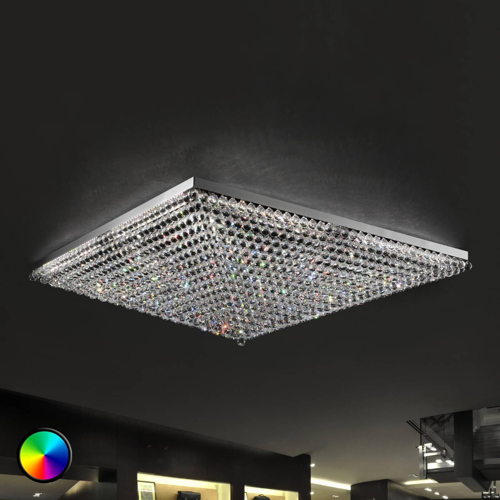 Imponerende taklampe Ascana m RGB-LED