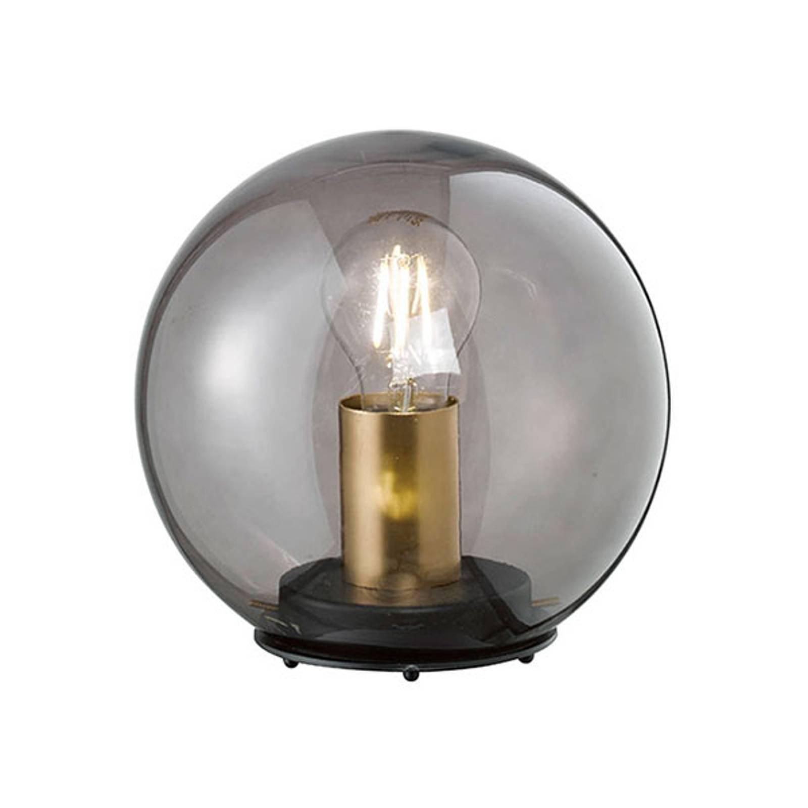 Bordlampe Dini med kuleskjerm av glass, 20 cm