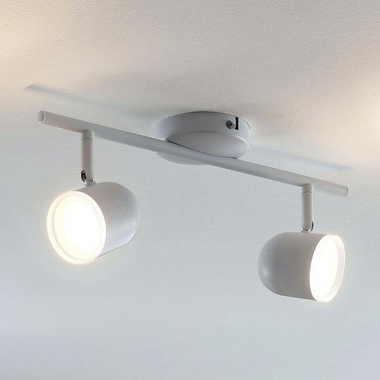 LED-kattovalo Ilka säädettävä valk. 2-lamppuinen