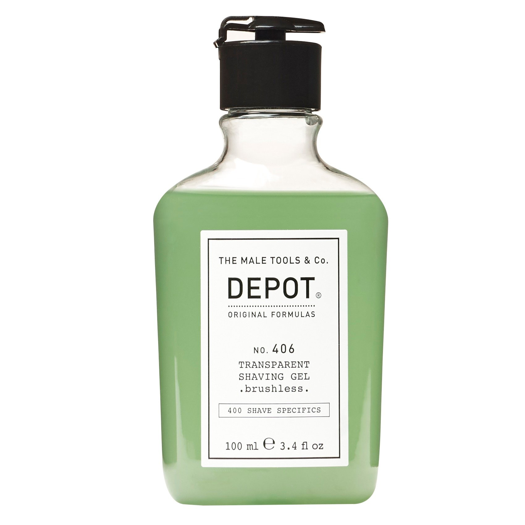 Depot - No. 406 Transparent Shaving Gel Brushless 100 ml