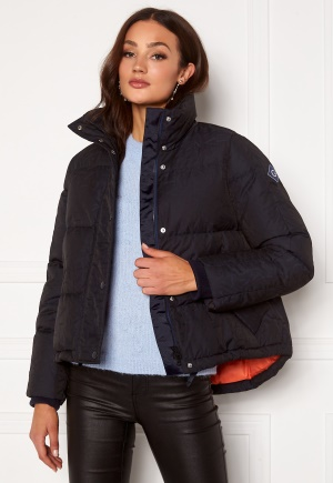 GANT Jacquard Gant Word Down Jacket 433 Evening Blue XS