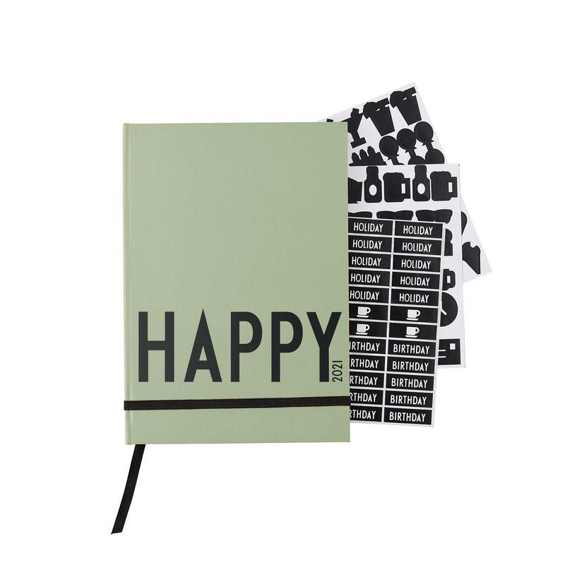 Design Letters - Calendar 2021 - Dark Green (70201016DARKGREEN)
