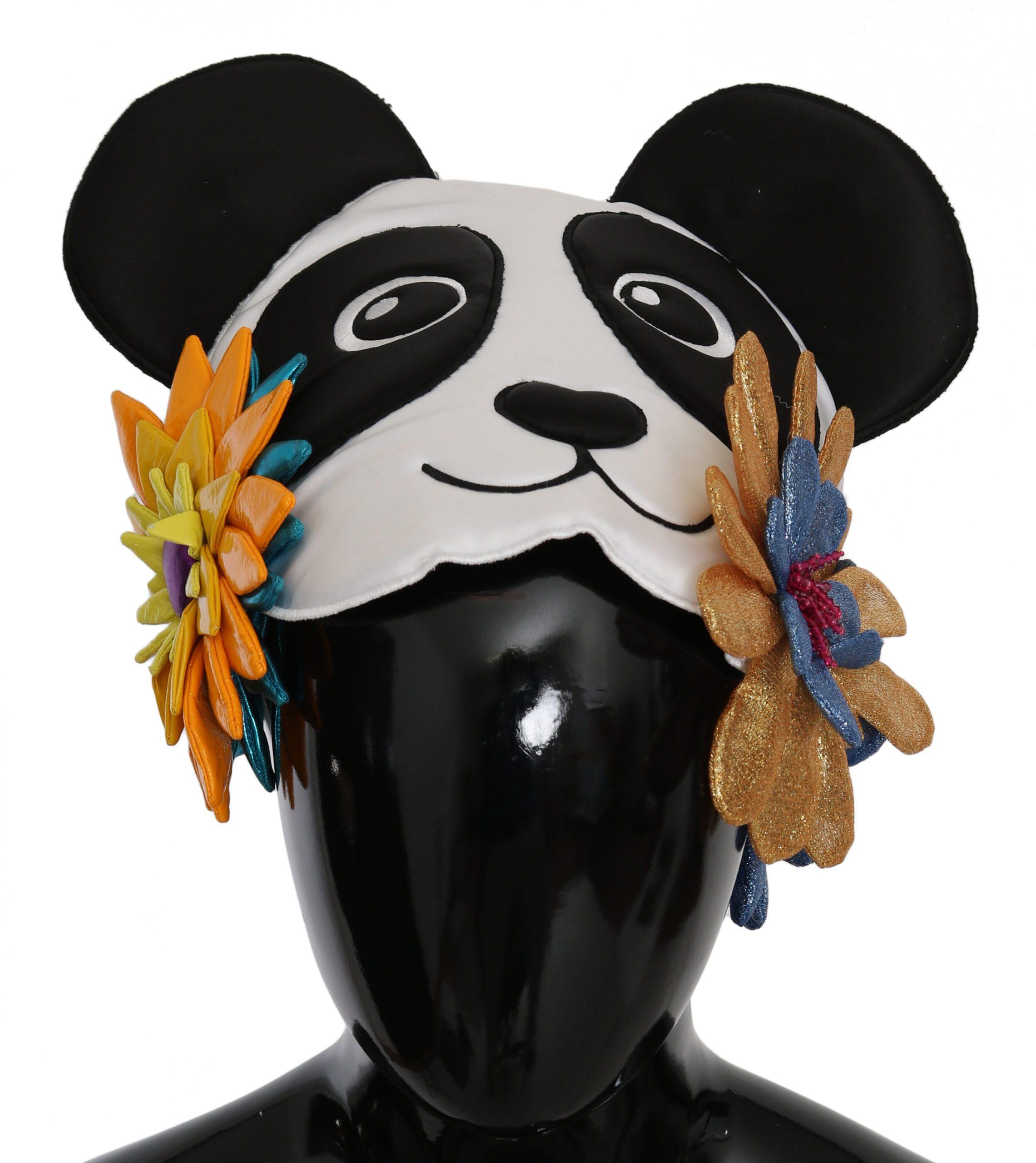 Dolce & Gabbana Women's Panda Floral PVC Hat Multicolor HAT9082