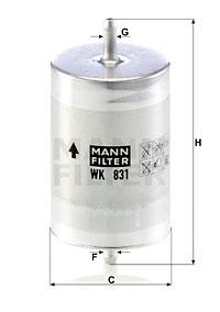 Polttoainesuodatin MANN-FILTER WK 831