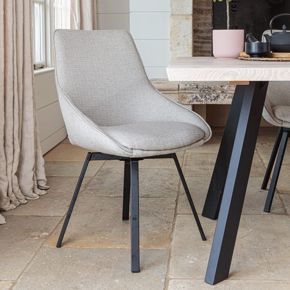 Gaudi Dining Chair – Light Grey (2 pk)