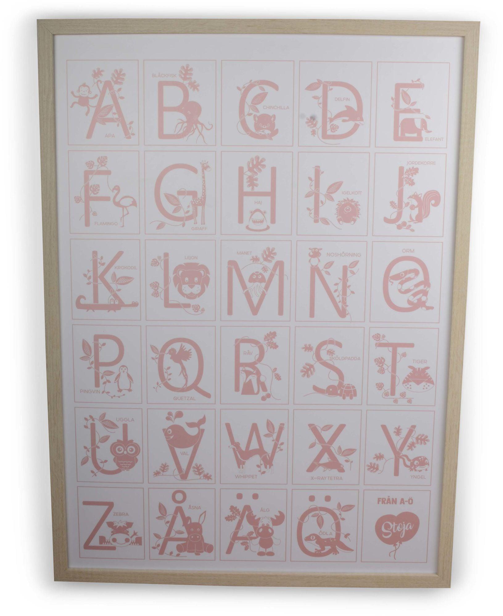 Form Living Taulu Alfabet, Vaaleanpunainen