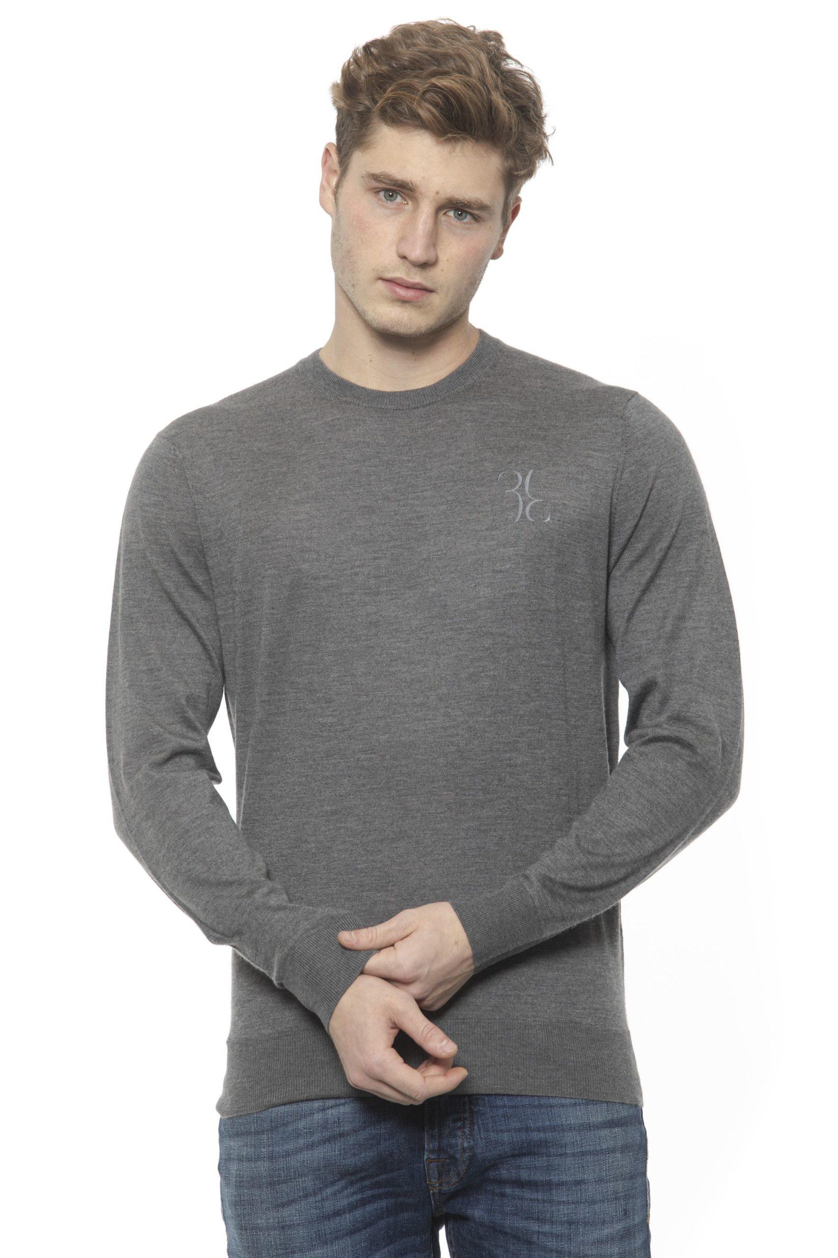 Billionaire Italian Couture Men's Grigio Sweater Grey BI1313558 - M