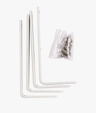 Seinäkiinike patrick- ja aksel-verhokisko, 4 kpl valkoinen