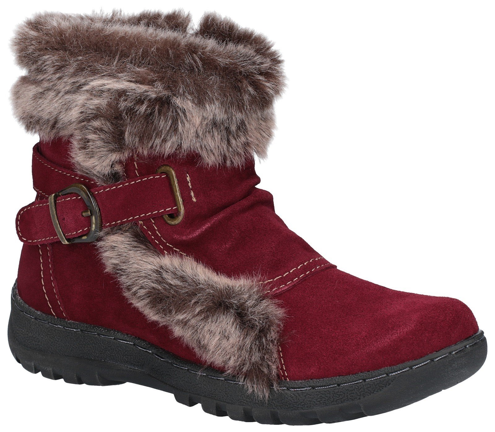 Fleet & Foster Women's Ginny Ankle Boot Brown 27143-45598 - Red 3