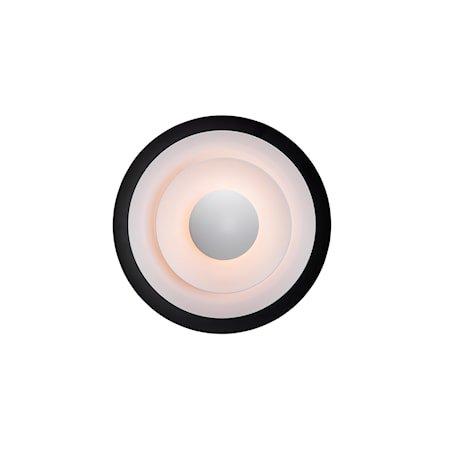 Diablo Vegglampe Mattsvart /Rød LED 30 cm