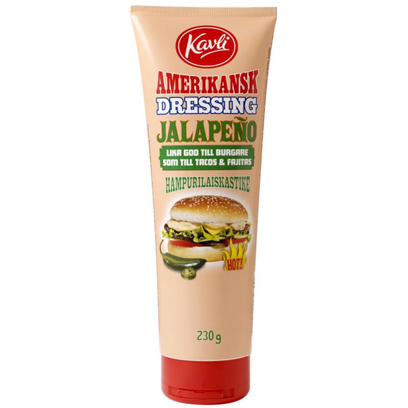 Hampurilaiskastike Jalopeno 230g - 41% alennus