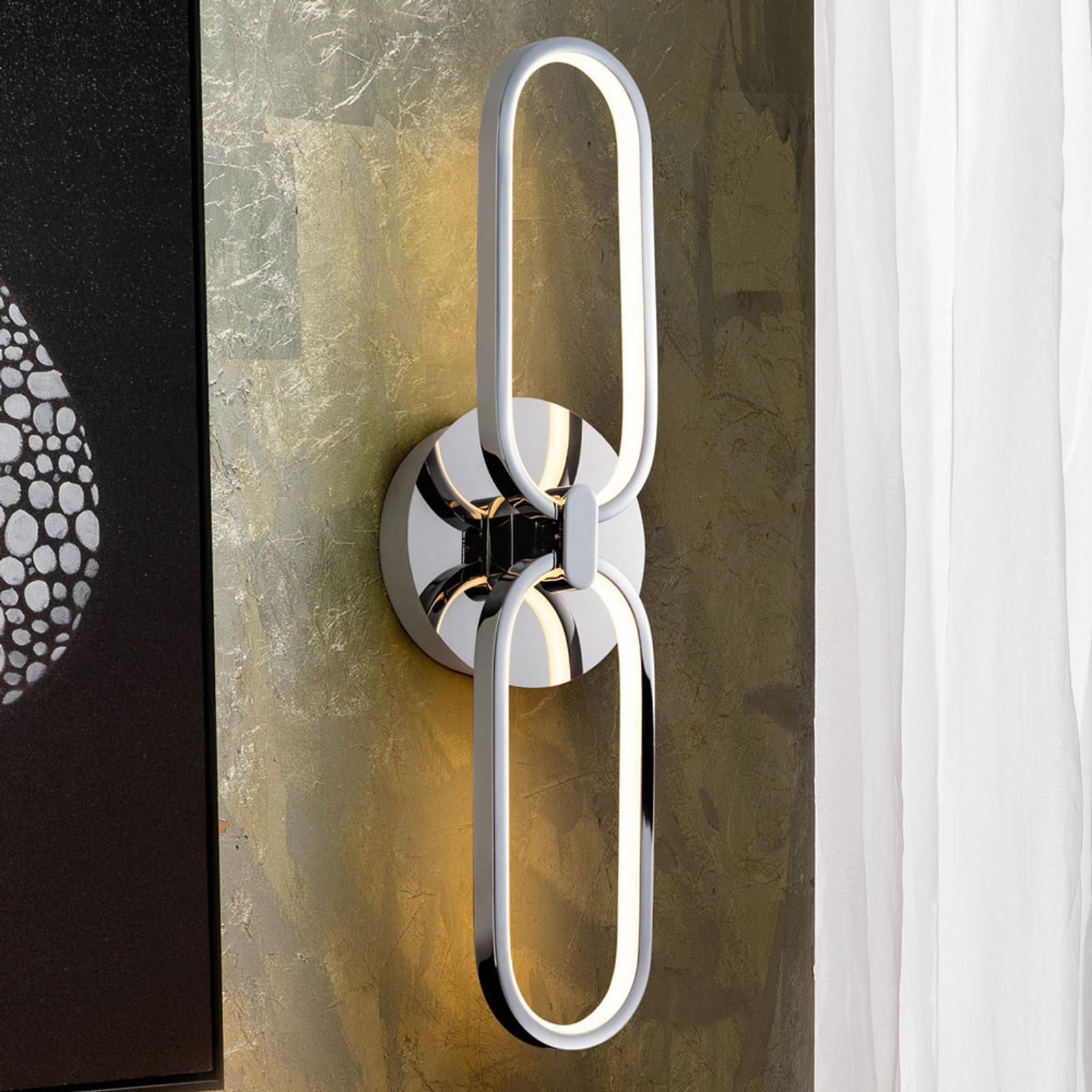 LED-seinävalaisin Colette, kaksilamppuinen, kromi