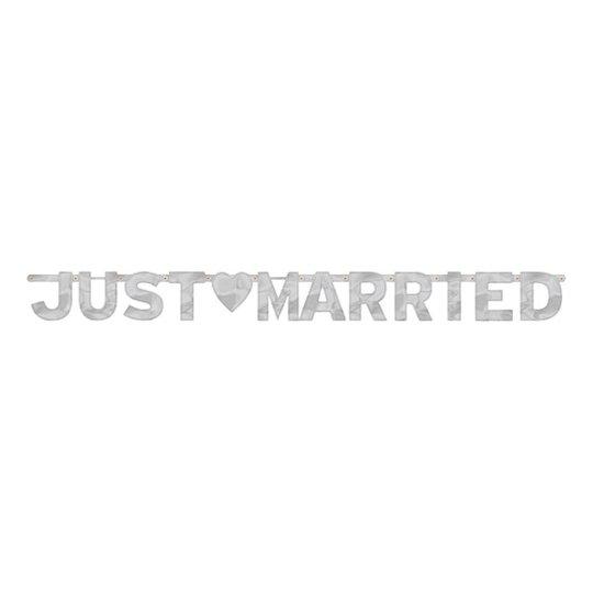 Just Married Bokstavsgirlang Silver