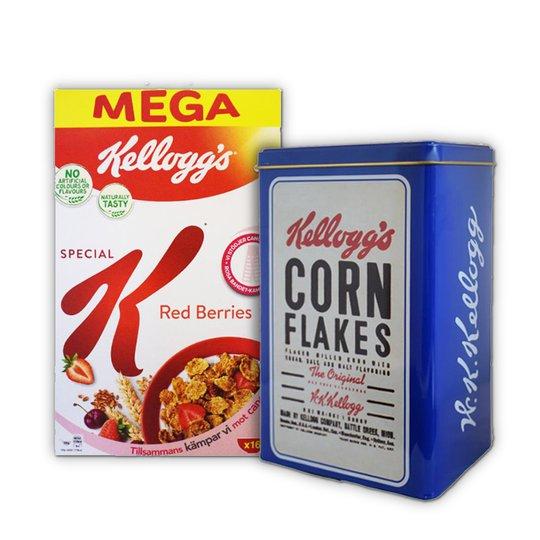 "Flingor ""Red Berries"" 500g + Retro Plåtburk - 87% rabatt"
