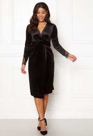 Happy Holly Leonora velvet dress Black 32/34