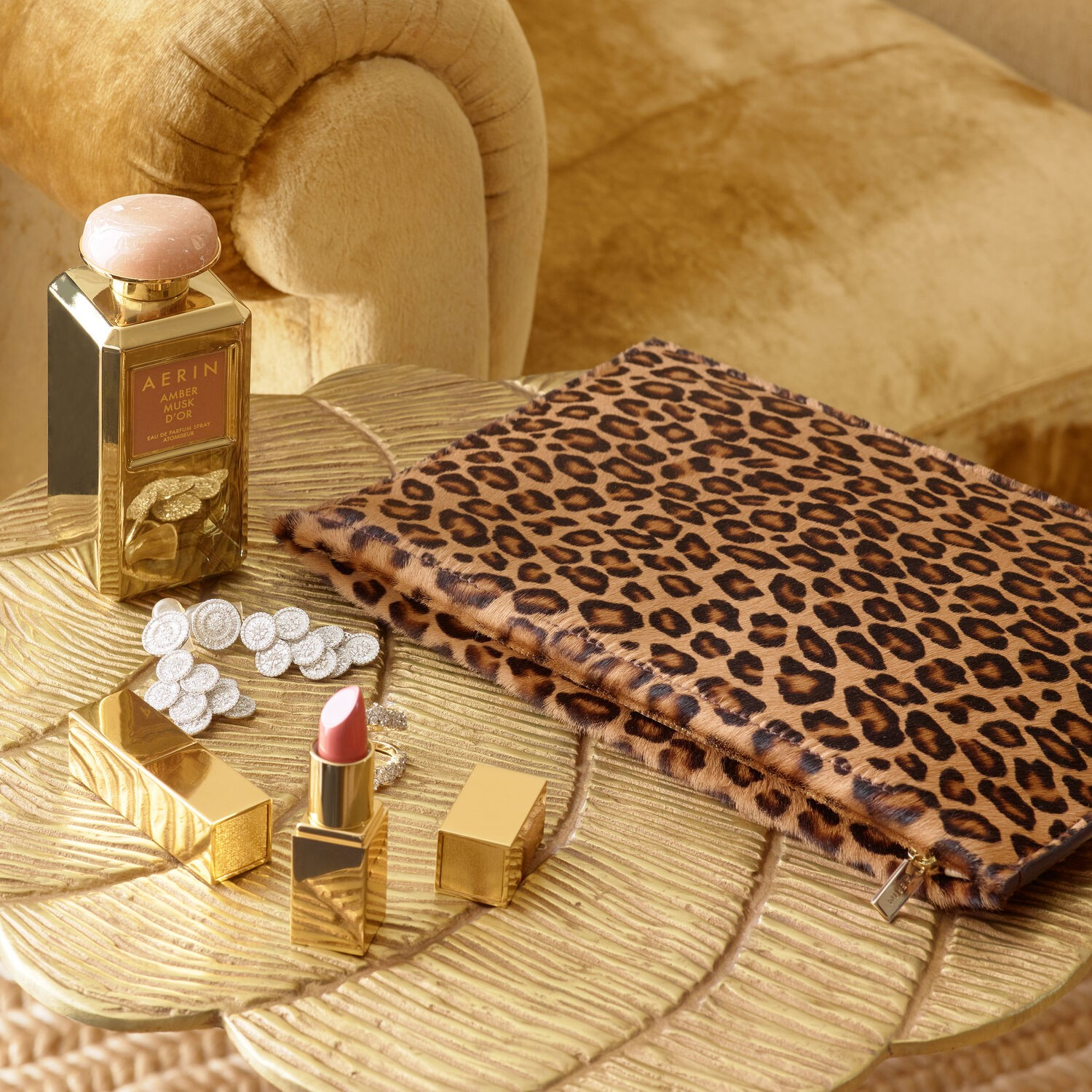 Aerin I Leopard Pouch