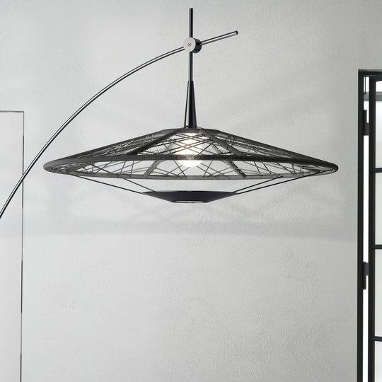 Forestier Carpa gulvlampe, svart, høyde 200 cm